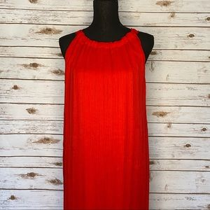 LANE BRYANT RED PLEATED SLEEVELESS DRESS 14/16 NWT